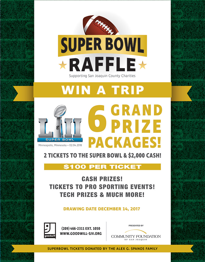 2017 Super Bowl Raffle Flyer